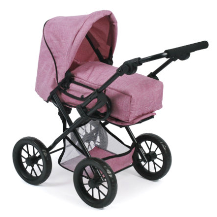 BAYER CHIC 2000 Kombi-Puppenwagen LENI, Jeans pink