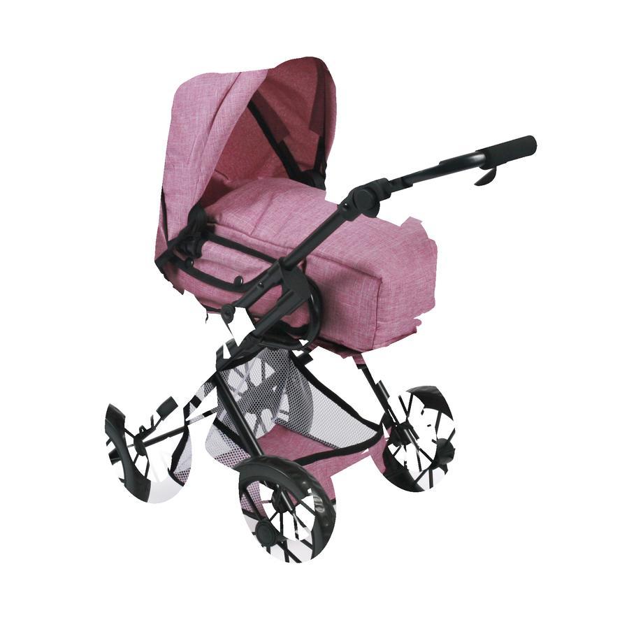 BAYER CHIC 2000 Wózek Kombi dla lalek LENI, Jeans pink
