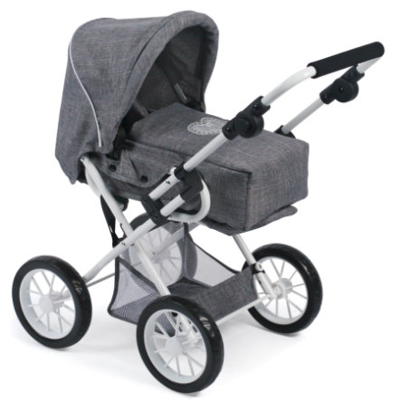 BAYER CHIC 2000 Kombi-Puppenwagen LENI, Jeans grey