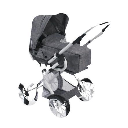 BAYER CHIC 2000 Wózek Kombi dla lalek LENI, Jeans grey