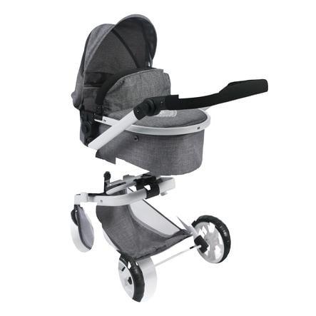 BAYER CHIC 2000 Wózek Kombi dla lalek MIKA Jeans grey