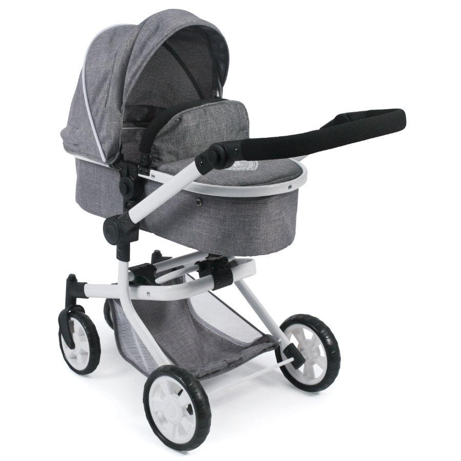 BAYER CHIC 2000 Passeggino duo per bambole MIKA Jeans grey