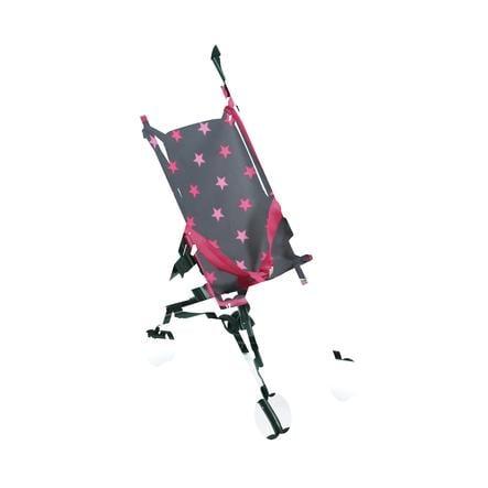 BAYER CHIC 2000 Mini Wózek spacerowy dla lalek Roma gwiazdki pink