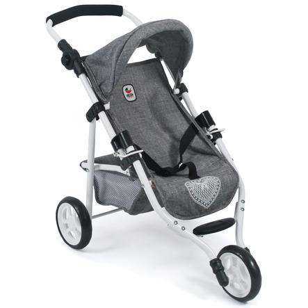 BAYER CHIC 2000 Wózek sportowy dla lalek LOLA Jeans grey