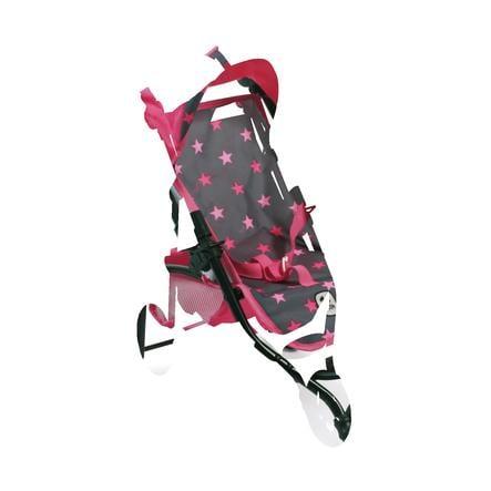 BAYER CHIC 2000 Wózek sportowy dla lalek LOLA Gwiazdki pink