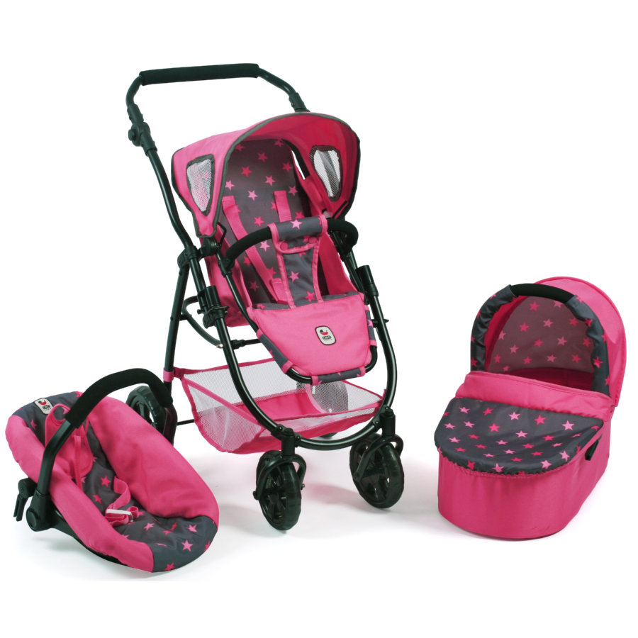 BAYER CHIC 2000 3in1 Kombi EMOTION ALL IN Sternchen pink
