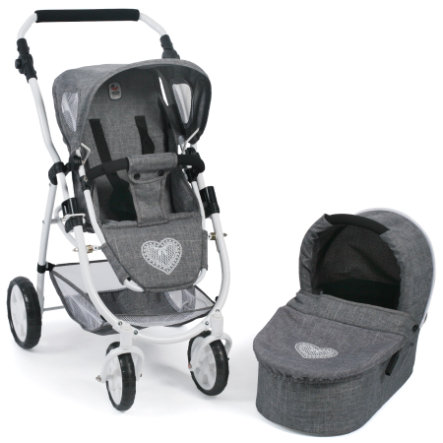 BAYER CHIC 2000 Cochecito juguete Combi EMOTION 2 en 1, Jeans grey