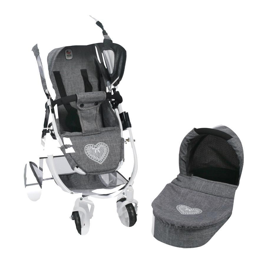 BAYER CHIC 2000 Wózek dla lalek EMOTION 2 in 1, Jeans grey