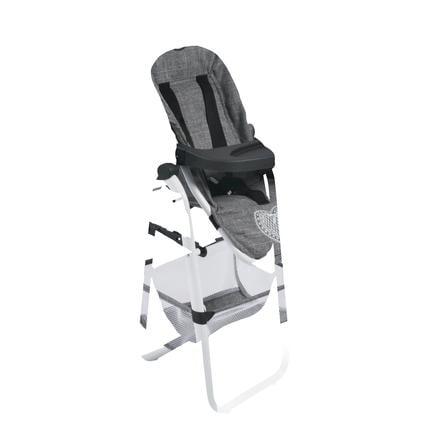 BAYER CHIC Jídelní židlička pro panenku 76 Jeans šedivá