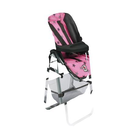 BAYER CHIC Jídelní židlička pro panenku 83 Hvězdičky šedivé