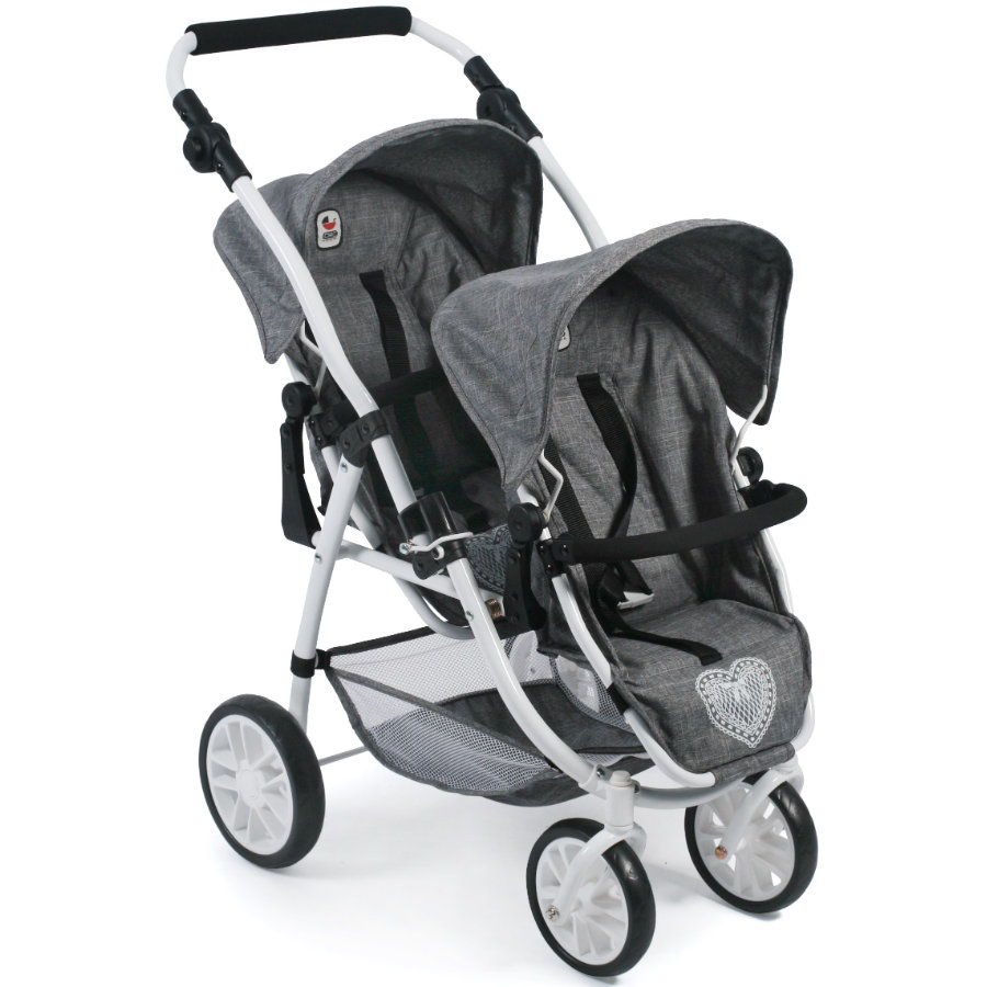 BAYER CHIC 2000 Tandem-Buggy VARIO Jeans grey