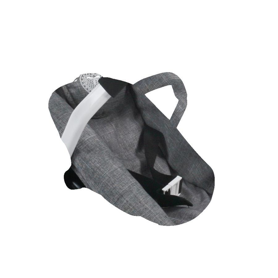 BAYER CHIC 2000 Fotelik samochodowy dla lalek Jeans grey
