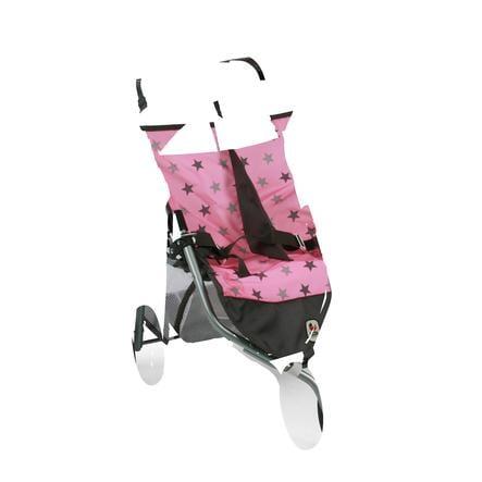 BAYER CHIC 2000 Wózek sportowy bliźniaczy dla lalek Gwiazdki szary