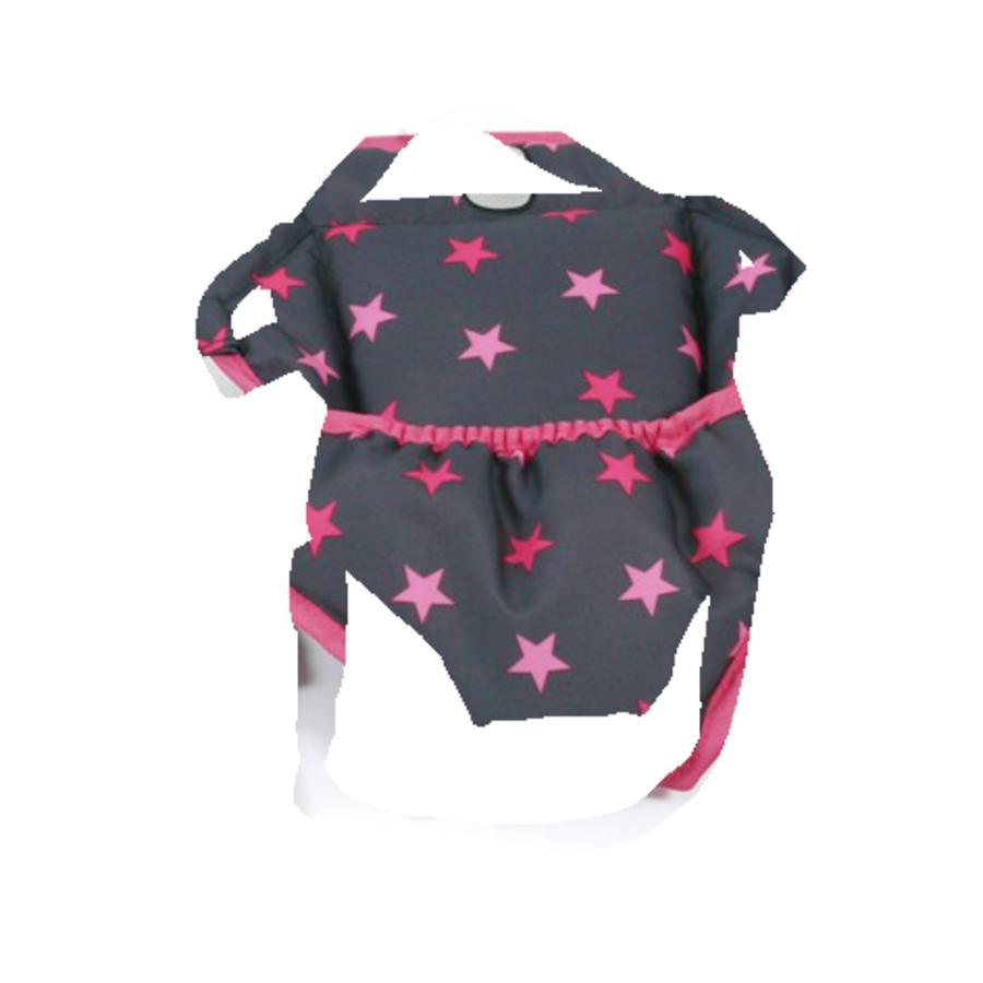 BAYER CHIC 2000 Bæresele for dukke - Stjerner pink
