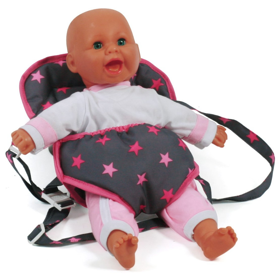BAYER CHIC 2000 Nosidełko dla lalek Gwiazdki pink