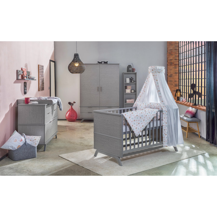 schardt chambre d 39 enfant vicky armoire 2 portes gris. Black Bedroom Furniture Sets. Home Design Ideas