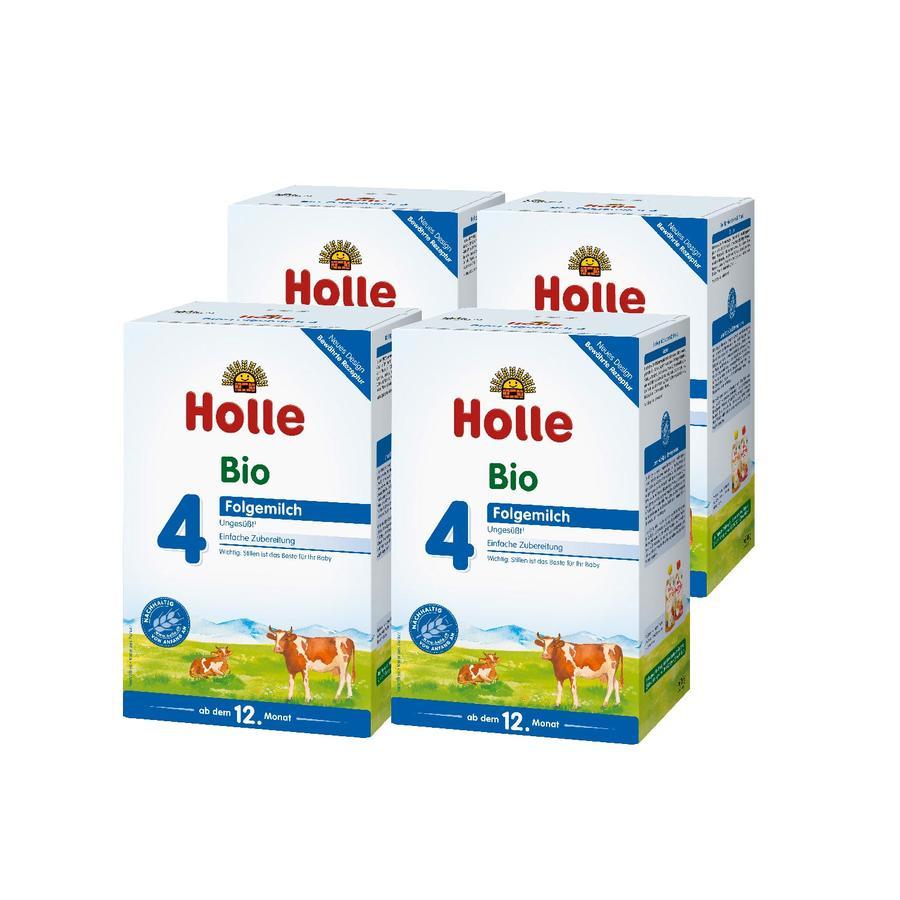 Holle Bio-Folgemilch 4 4 x 600 g ab dem 12. Monat