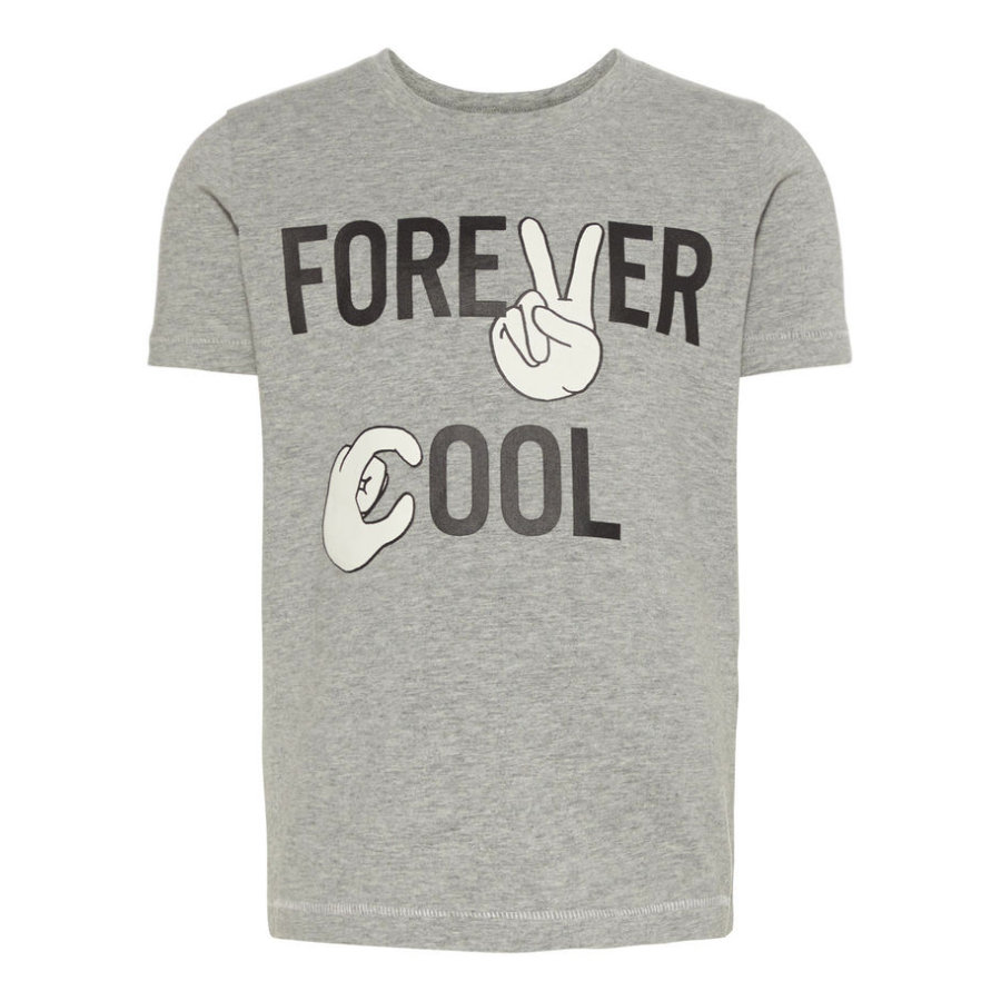 name it Boys T-Shirt Nmmfandit grey melange