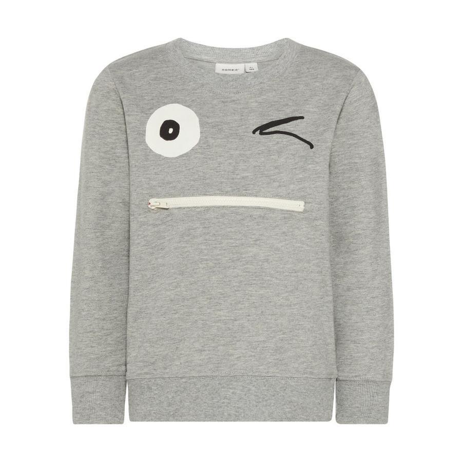 name it Boys Sweatshirt Nmmfacool grey melange