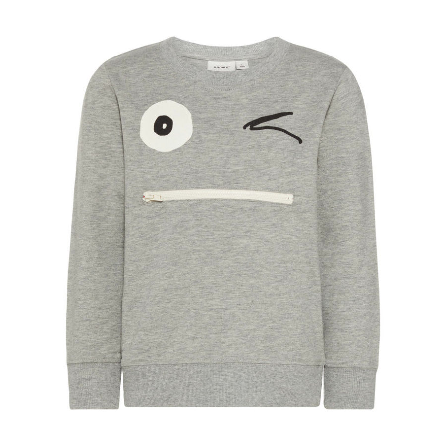 name it Boys Sweatshirt Nmmfacool gris mélangé