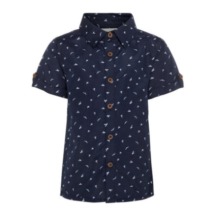 name it Boys Shirt Dark Sapphire Dark Sapphire