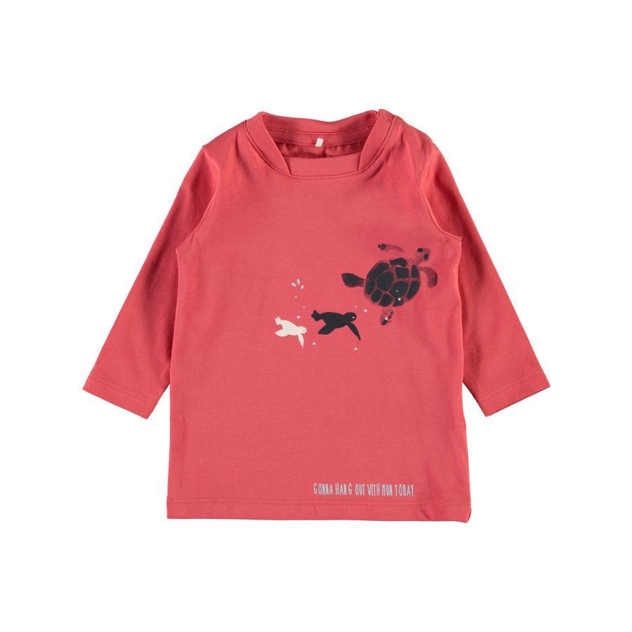 name it Boys Koszula z długim rękawem Nbmfaniel z przyprawami koralowymi