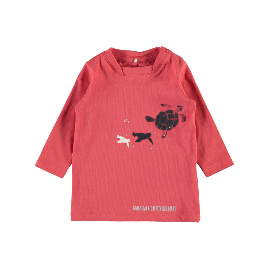 name it Boys Langarmshirt Nbmfaniel spiced coral