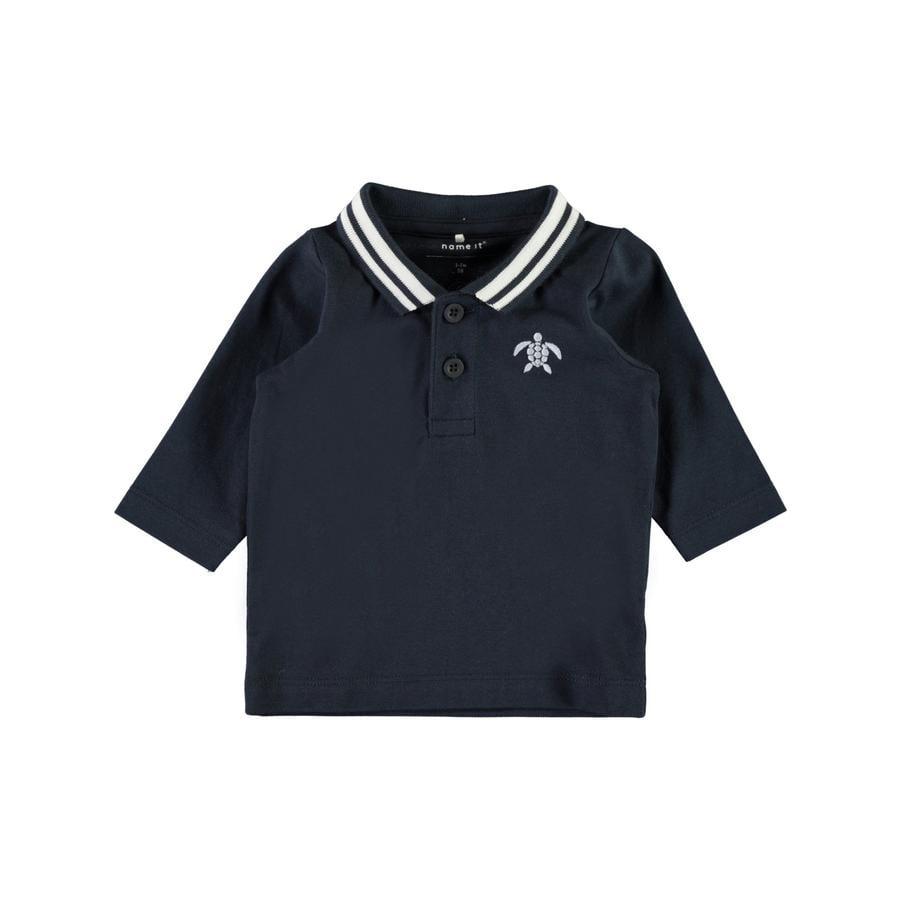 name it Poloshirt Nbmfanel mörk safir