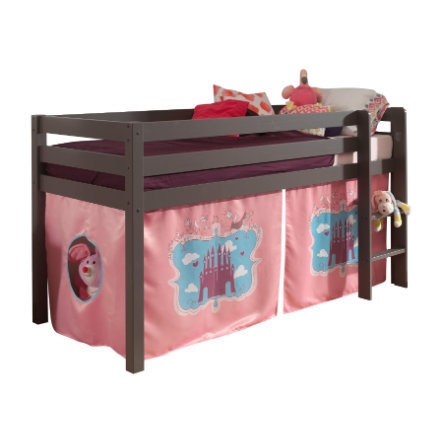 VIPACK Spielbett Pino taupe Vorhang Castle