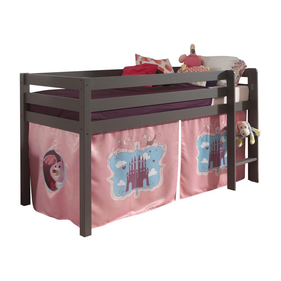 VIPACK Dětská postel se závěsem hrad