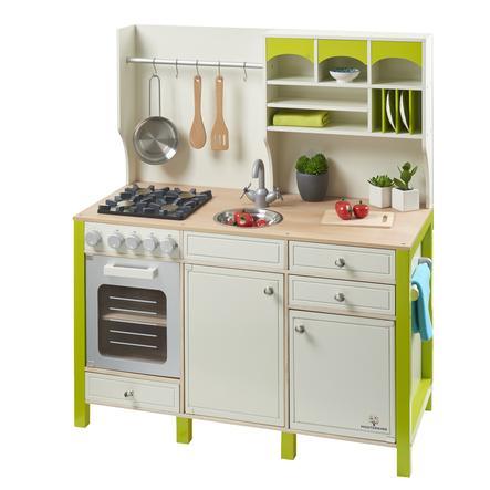 MUSTERKIND® Kuchyňka na hraní Salvia, krémová/zelená