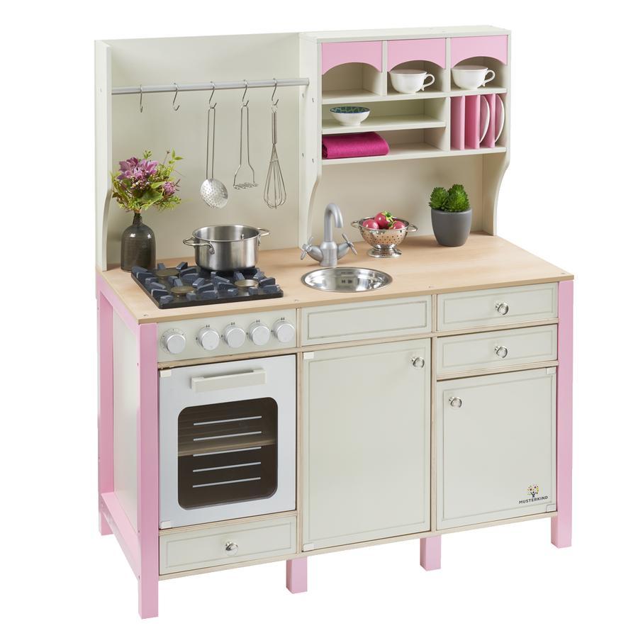 MUSTERKIND® Kuchyňka na hraní Salvia, krémová/růžová