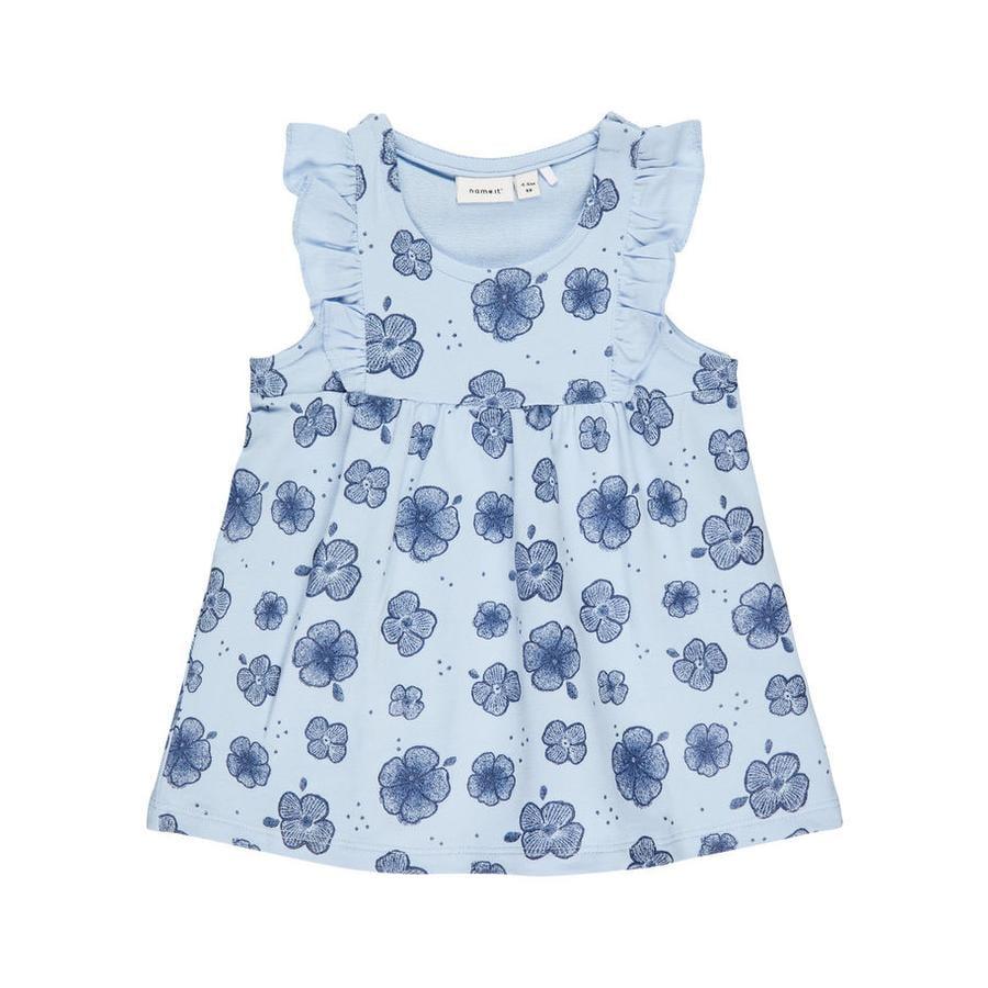 name it Girl sukienka Nbffanoria cashmere blue