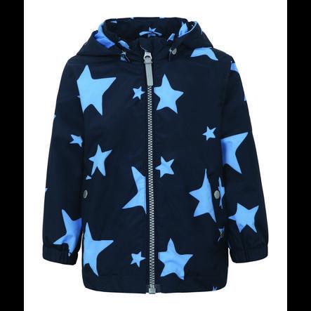 TICKET TO HEAVEN  Maxi jakke med aftagelig hætte, marine med stjerner