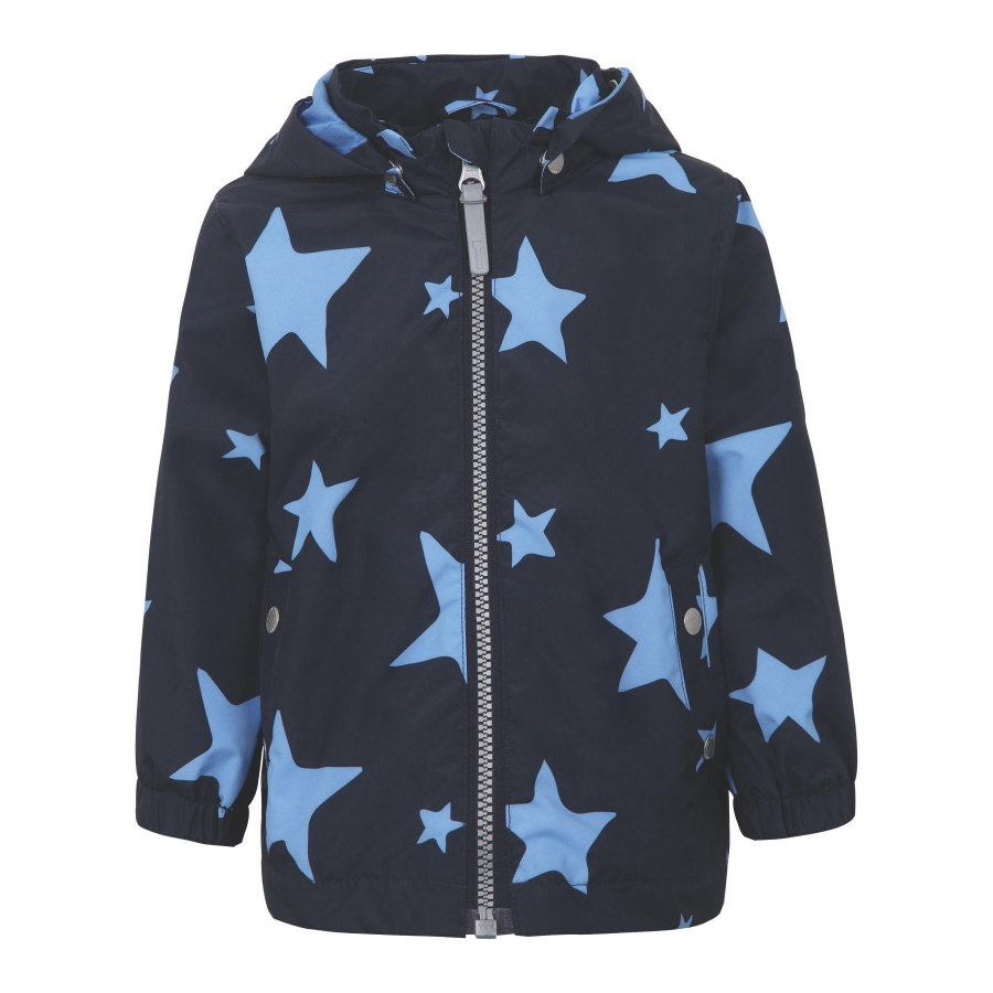 TICKET TO HEAVEN Veste Maxi avec capuche amovible, marine avec étoiles