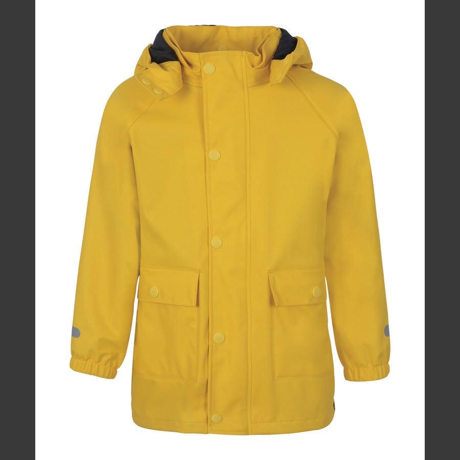 TICKET TO HEAVEN Chaqueta de lluvia Auténtico caucho con capucha desmontable, amarillo