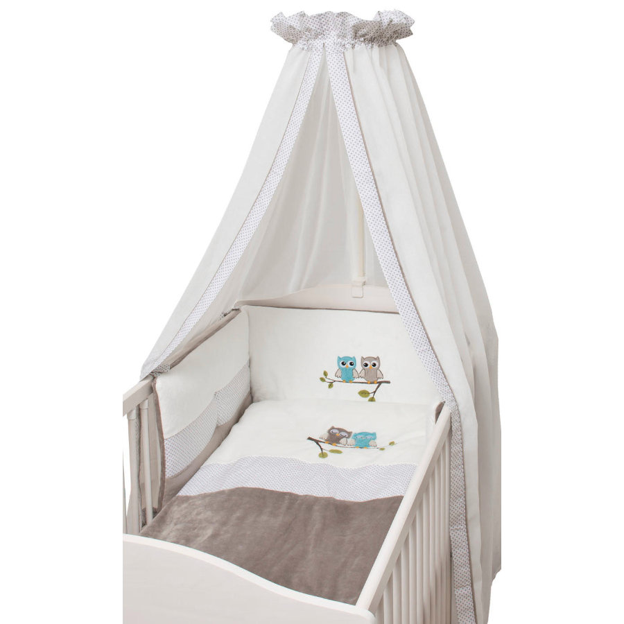 Set letto Collection estivo Be Be Be 3 pz. civette taupe