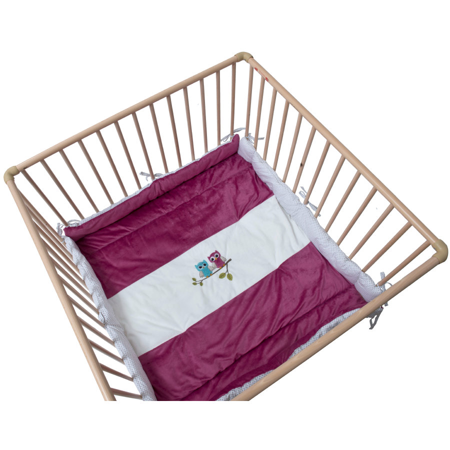 Be Be's Collection playpen inlay sovy fuchsie
