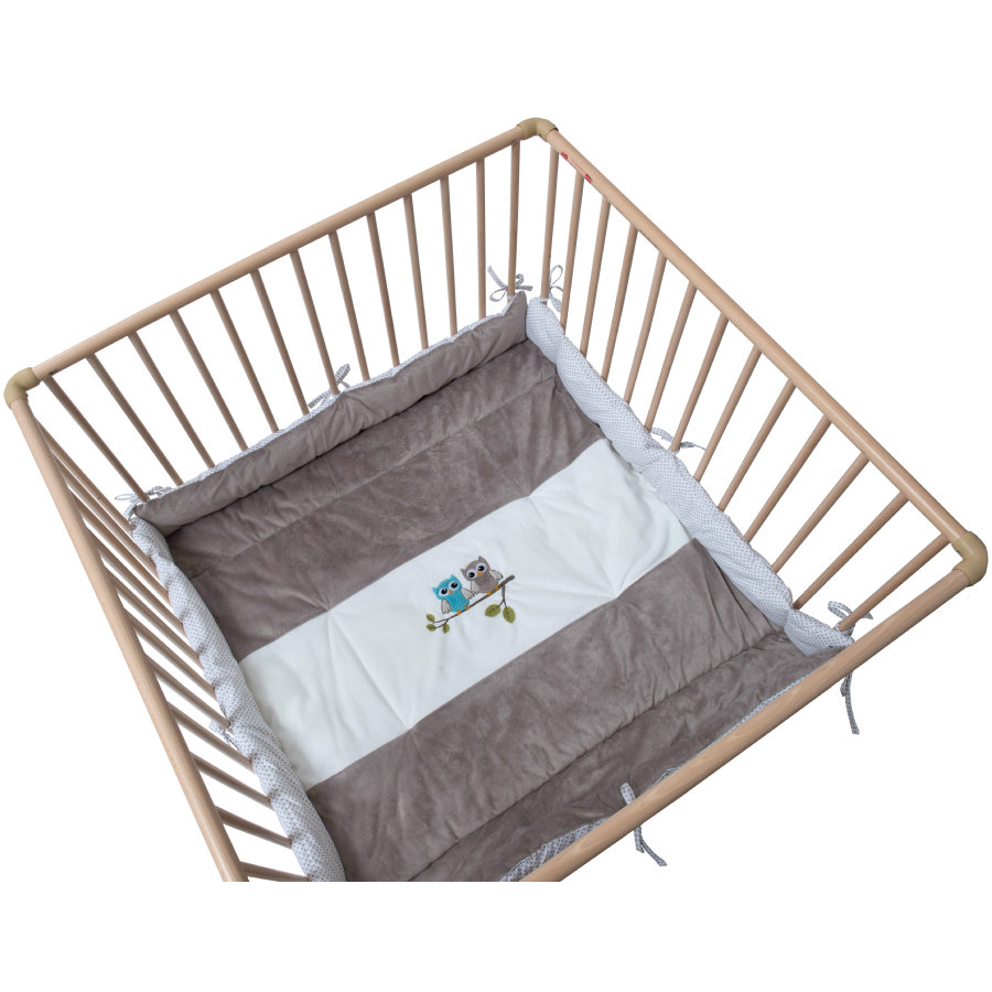 Be's Collection playpen inlayowls taupe Be's playpen.
