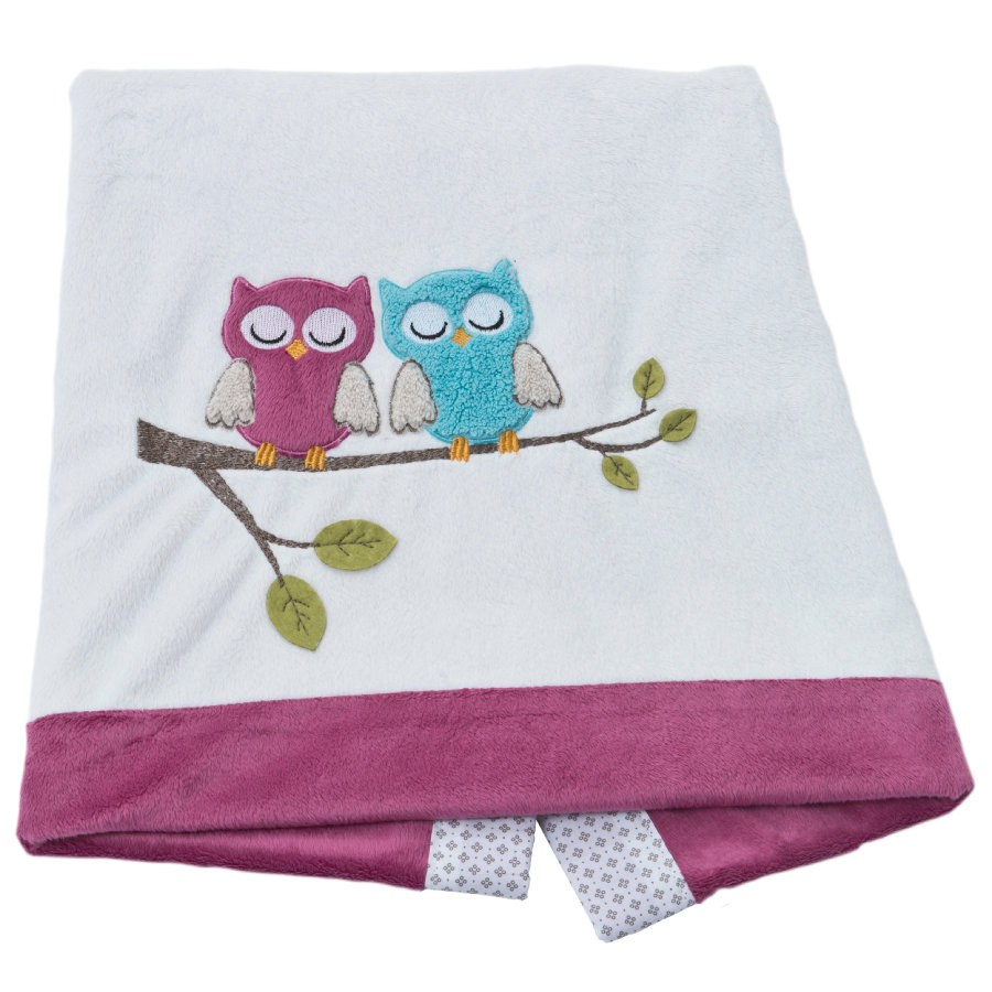 Be Be 's Collection deka Sovy fuchsia 75 x 100 cm