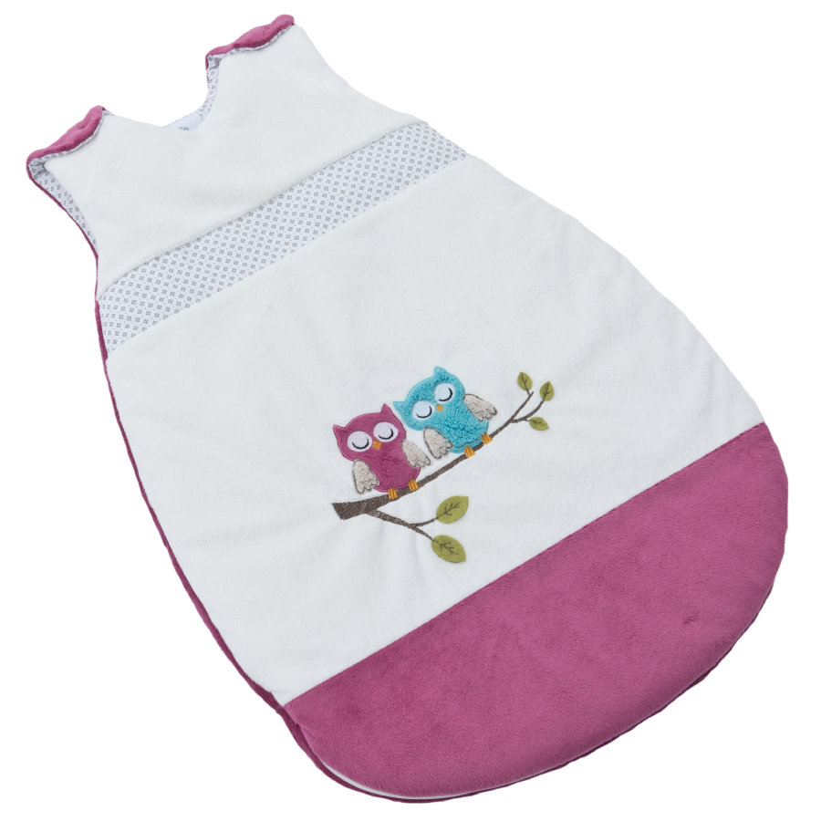 Be Be 's Collection Winter-Schlafsack Eulen fuchsia 110 cm