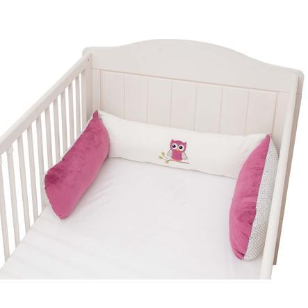 BeBes Collection Tour de lit enfant hiboux fuchsia 3 pièces