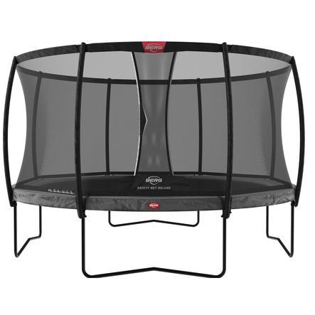 BERG Toys - Trampolin Champion Grey 380 + Sicherheitsnetz Deluxe AirFlow