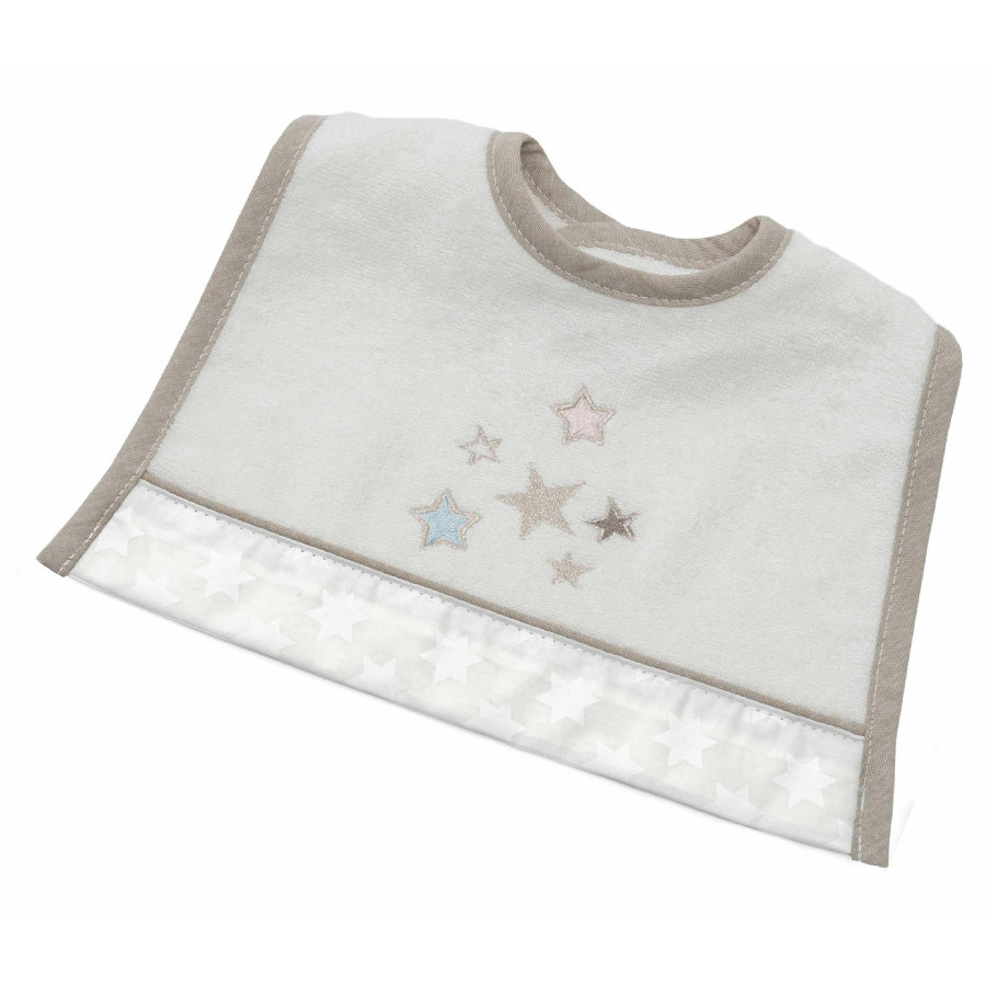 Be Be 's Collection Haklapp Mini Glitter stars ecru