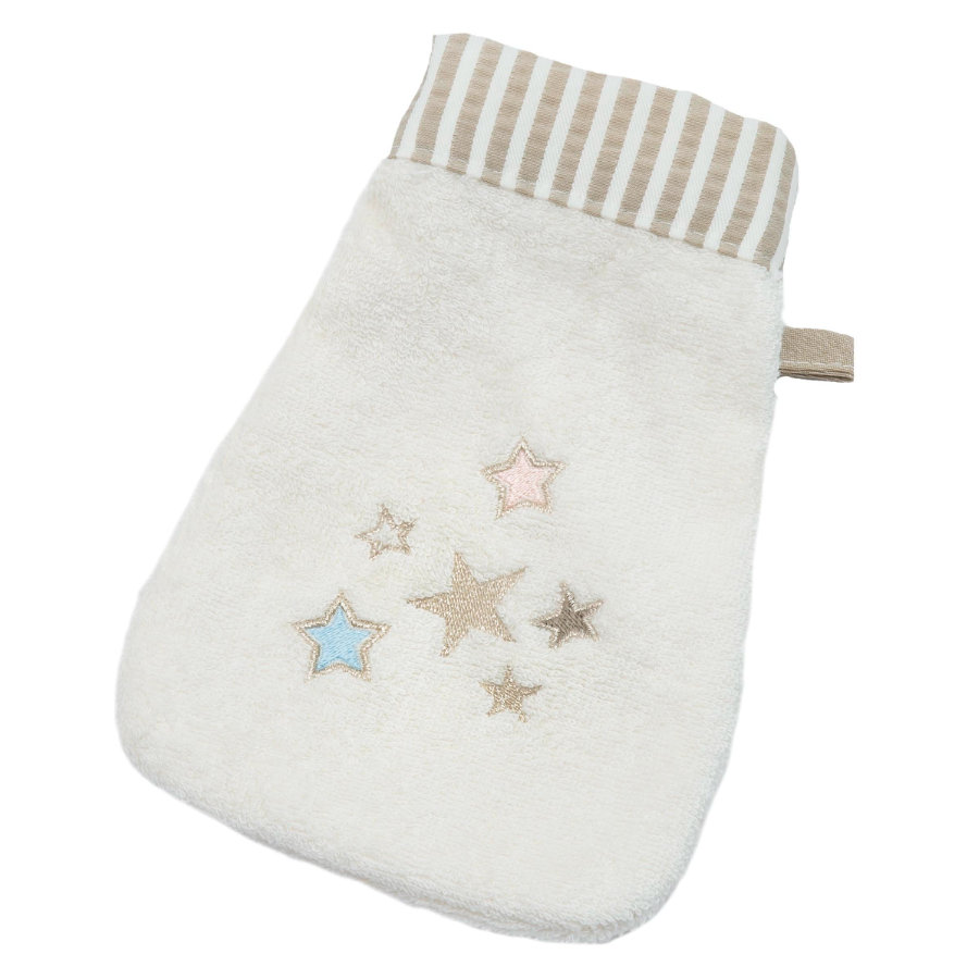 Guanti Be' s Collection wash di Be Be' s wash glitter stars ecrù