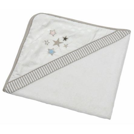 Be' s Be' s con Collection cappuccio asciugamano glitter stelle ecrù 80 x 80 cm