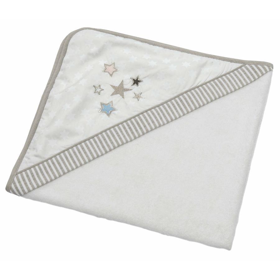 Kolekce Be Be's Collection Třpytky osuškové osušky s hvězdami ecru 80 x 80 cm