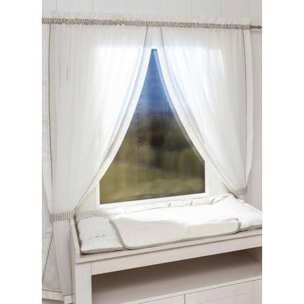 Be Be Be `s Collection cortina 2 bufandas de lazo estrellas de brillo crudo 100 x 240 cm