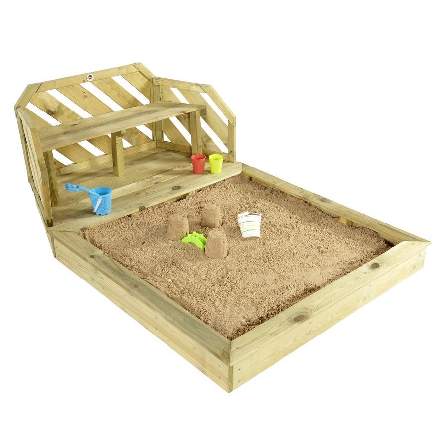 plum Zandbak en bank van hout