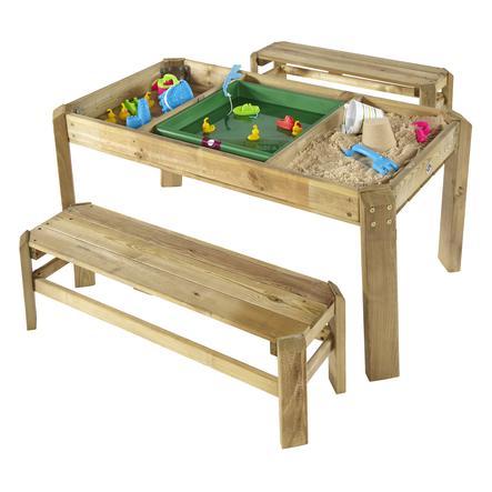 plum  ® konsola z drewnianymi ławkami